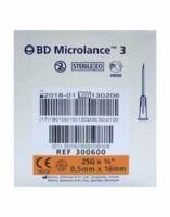 BD MICROLANCE 3, G25 5/8, 0,5 mm x 16 mm, orange  à VOIRON