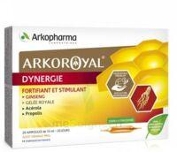 Arkoroyal Dynergie Ginseng Gelée royale Propolis Solution buvable 20 Ampoules/10ml à VOIRON