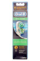 BROSSETTE DE RECHANGE ORAL-B DUAL CLEAN x 3 à VOIRON
