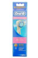 BROSSETTE DE RECHANGE ORAL-B SENSITIVE CLEAN x 3 à VOIRON