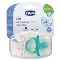 """Acheter Sucette Physio Soft  """"tout silicone"""" neutre et bleu - Boîte stérilisable - x2 - 6-12m à VOIRON"""